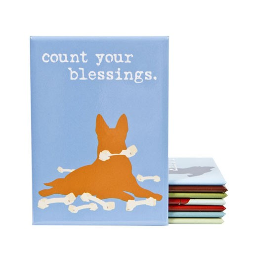 "Dog is Good Dog is Good Magnet ""Count Your Blessings"""