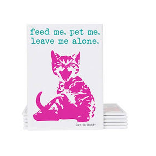 """Dog is Good Dog is Good Cat Magnet """"Feed Me. Leave Me Alone"""""""