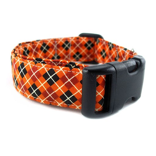 Bow Wow Couture Bow Wow Couture Pumpkin Argyle Collar