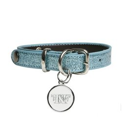 Fetchers & Fighters Glitter Ocean Blue Dog Collar