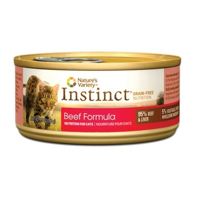 Nature's Variety Instinct Feline Can Beef 5.5oz