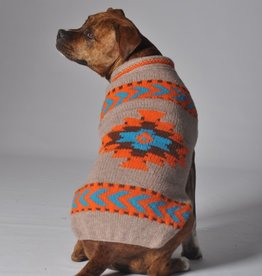 Chilly Dog Chilly Dog Tan Aztec Shawl Sweater