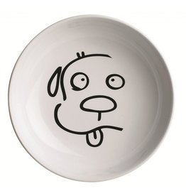 Ore Ore Pet Dog Face Illustrated Ceramic Bowl