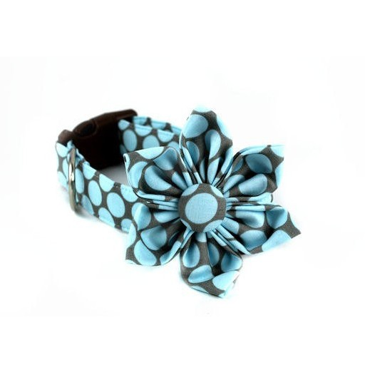 Bow Wow Couture Bow Wow Couture Fresh Dots Honey Blue Collar