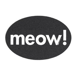 Ore Ore Pet Recycled Rubber Oval Meow! Placemat