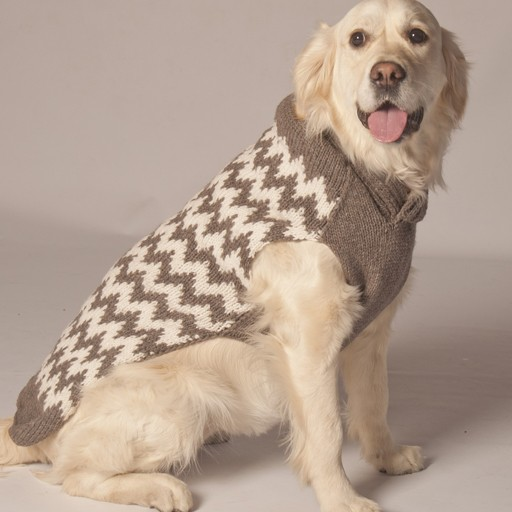 Chilly Dog Chilly Dog Grey/White Chevron Shawl
