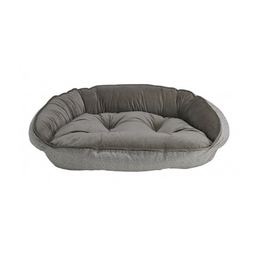 Bowsers Bowsers Crescent Bed Taupe Herringbone XL