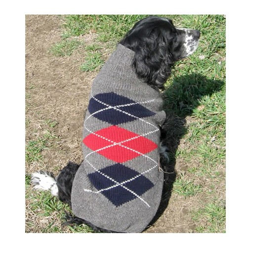 Chilly Dog Chilly Dog Argyle Sweater