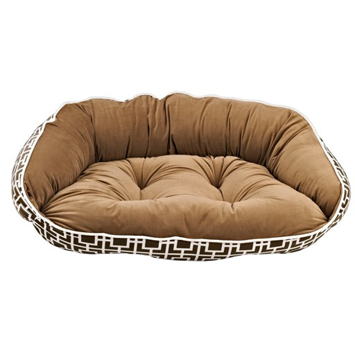 Bowsers Bowsers Crescent Bed Courtyard Taupe (Toffee Bottom, White Trim)