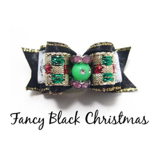 Chloe's Canine Fancy Black Christmas Hair Bow