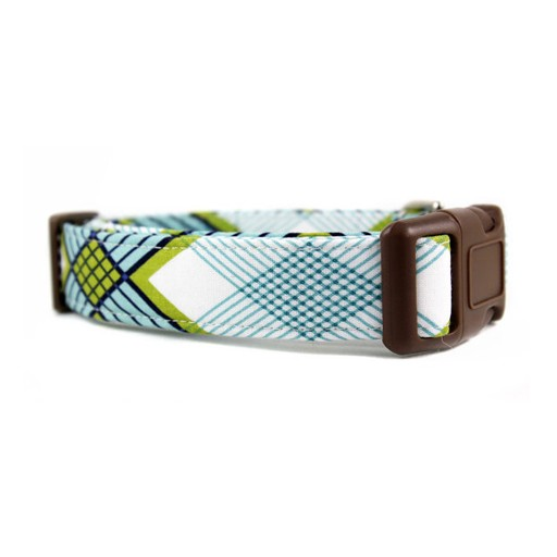 Bow Wow Couture Bow Wow Couture Art Deco Plaid in Blue Collar
