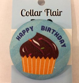 Bow Wow Couture Bow Wow Couture Collar Flair Happy Birthday in Blue