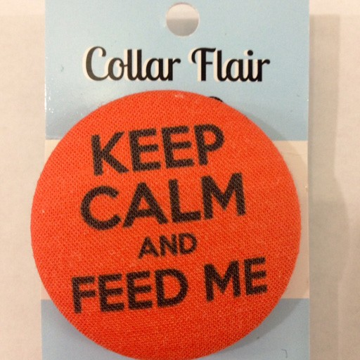 Bow Wow Couture Bow Wow Couture Collar Flair Keep Calm & Feed Me