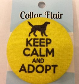 Bow Wow Couture Bow Wow Couture Collar Flair Keep Calm & Adopt