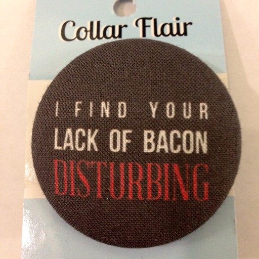 Bow Wow Couture Bow Wow Couture Collar Flair I Find Your Lack of Bacon Disturbing
