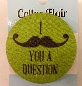 Bow Wow Couture Bow Wow Couture Collar Flair I (Mustache) You A Question