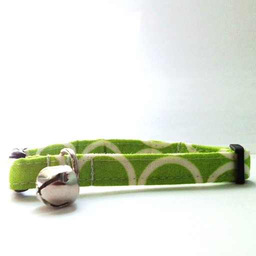 Bow Wow Couture Bow Wow Couture Mod Lime Cat Collar 3/8""