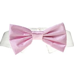 Pooch Outfitter Pooch Outfitters Pink Satin Bow Tie