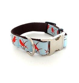 "Wonderdog NY Wonderdog New York Cardinal Dog Collar, 1"", M"