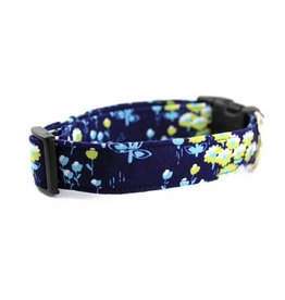 Bow Wow Couture Bow Wow Couture Meadow in Blue Cat Collar 3/8""