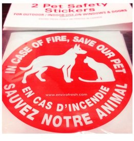 Enviro Fresh Safety Sticker 'Save My Pet'