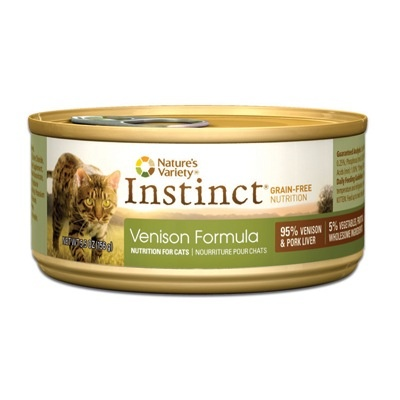 Nature's Variety Instinct Feline Can Venison 5.5oz