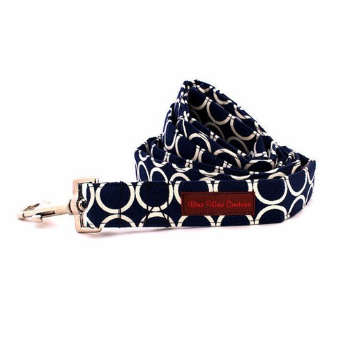 """Bow Wow Couture Bow Wow Couture Mod Dog in Navy Lead 1"""" x 5'"""