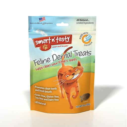 Emerald Pet Products Smart n' Tasty Feline Dental Treat Chicken 3oz