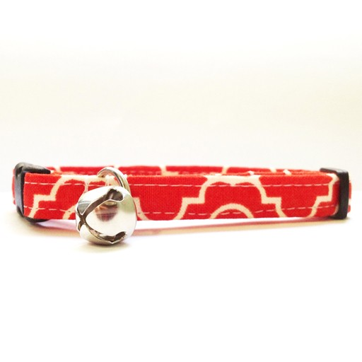 """Bow Wow Couture Bow Wow Couture Tiles in Orange Cat Collar 3/8"""""""