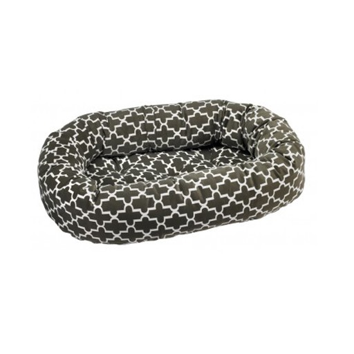 Bowsers Bowsers Pet Products Diamond Donut Bed Graphite Latice MED