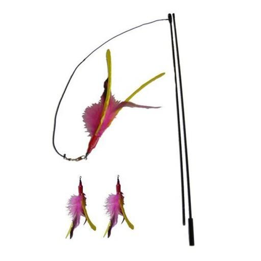 Go Cat Da Bird Pull Apart Rod with Guinea Feather