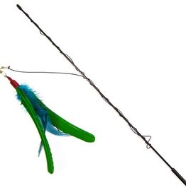 Go Cat Da Bird with Rod (Guinea Feather)