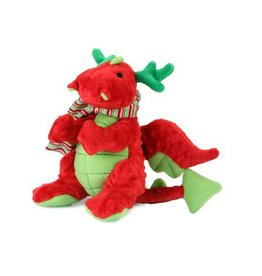 Go Dog Go Dog Holiday Santa Dragon w/Chew Guard Small