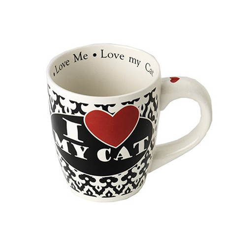 Petrageous Petrageous I Love my Cat Jumbo Mug 28oz