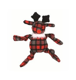 Hugglehounds Hugglehound Plaid Knotties Reindeer