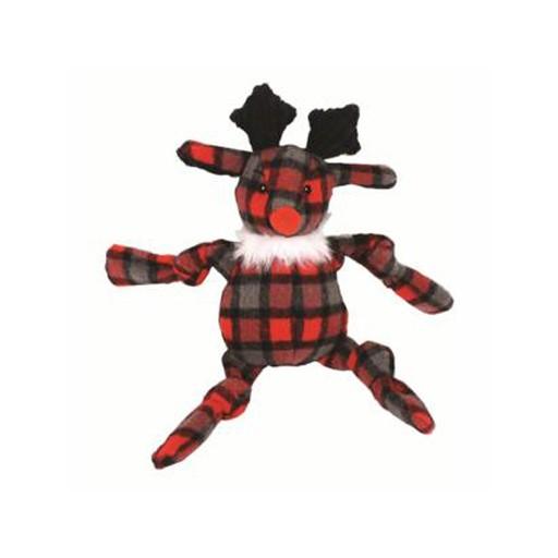 Hugglehounds Hugglehound Plaid Knotties Reindeer