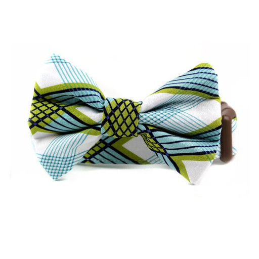 Bow Wow Couture Bow Wow Couture Art Deco Plaid in Blue Bow Tie