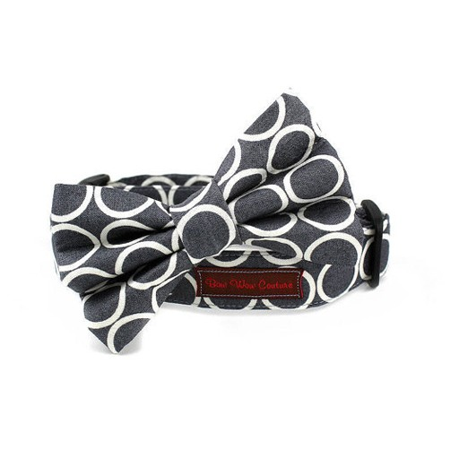 Bow Wow Couture Bow Wow Couture Mod Dog in Slate Bow Tie