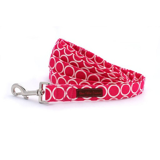 "Bow Wow Couture Bow Wow Couture Mod Dog in Pink Lead 1"" x 5'"