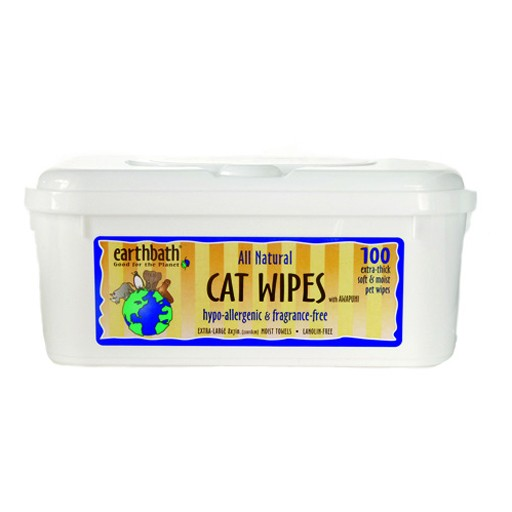 Earthbath Earthbath Hypo-Allergenic Grooming Wipes for Cats 100 count