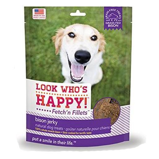Look Who's Happy Fetch'n Filllets Bison Jerky 4oz