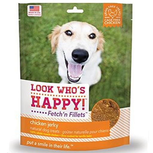Look Who's Happy Fetch'n Filllets Chicken Jerky 4oz