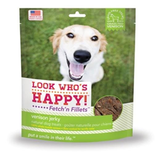 Look Who's Happy Fetch'n Filllets Venison Jerky 4oz