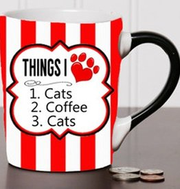 "Tumbleweed Tumbleweed ""Things I Love, Cats & Coffee"" Mug 20oz"