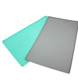 """Be One Breed Silicone Mat Moroccan Turquoise 19""""x11"""""""