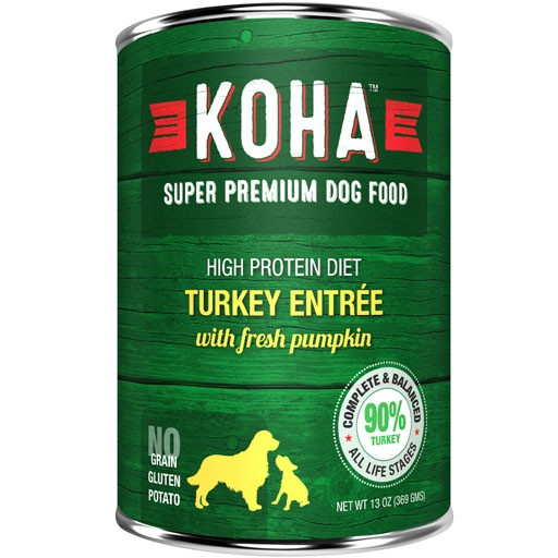 Koha Dog Can 90% Turkey Pate 13oz