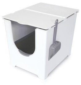ModKo Flip Litter Box (White) w/ Scoop & Paperboard Liners