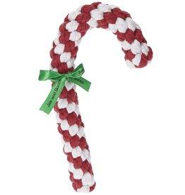 "Jax and Bones Jax and Bones Good Karma Rope Toy Candy Cane 12"""