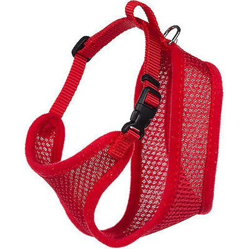 Coastal Coastal Adjustable Mesh Cat Harness Red