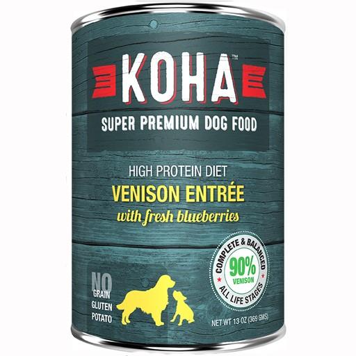 Koha Dog Can 90% Venison Pate 13oz